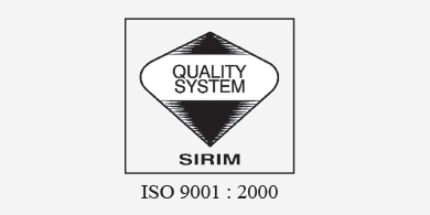 MS ISO 9001 : 2000 certification